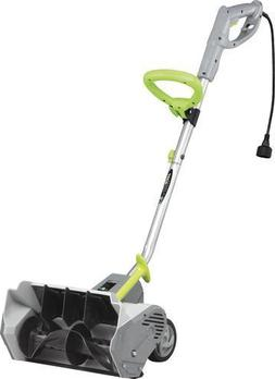 "16"" Electric Snow Shovel 12 Amp Corded Dual Blade Curved Rot"