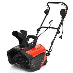 "18"" 15 Amp Electric Snow Thrower Corded Snow Blower Driveway"