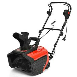 """Gymax 18"""" 15 Amp Electric Snow Thrower Corded Snow Blower Dr"""