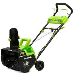 "Earthwise 18"" 40V 4 Ah Cordless Electric Snow Thrower SN7401"