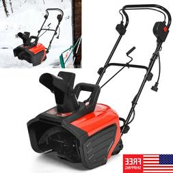 18in Electric Thrower Snow Thrower Corded Snow Blower 15-Amp