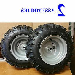 2) 16x6.50-8 16/6.5 16/650-8 TIRE RIM WHEEL ASSEMBLY Snow Bl