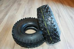 2 Stud Tires 4.10-3.50-4 Go-Kart Snow Blower Dolly Air Compr