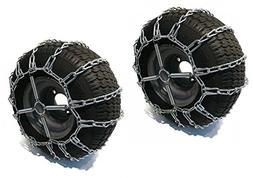 2 Link TIRE CHAINS & TENSIONERS 16x6.5x8 for Garden Tractors