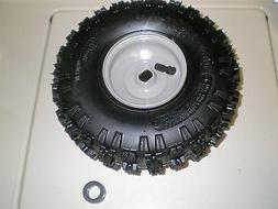 "2 stage snowblower tire and wheel 934-04282B 4"" grey steel r"