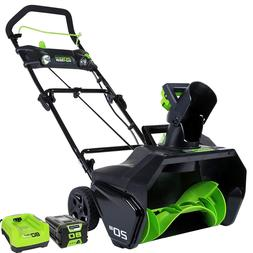 "20"" 80V Cordless Snow Thrower 2.0 AH Battery Included Blower"