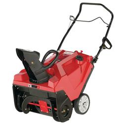 """21"""" 123cc Gas Snow Blower Single Stage Easy Chute Control Dr"""