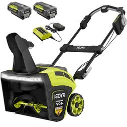 """21"""" 40 Volt Brushless Cordless Electric Snow Blower Walkway"""