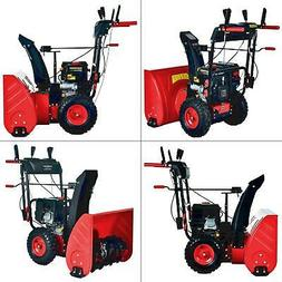24 in. 212 cc two-stage gas snow blower with electric start