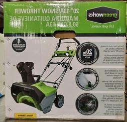 "Greenworks 2600202 20"" 13a Snow Thrower"