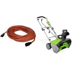 GreenWorks 2600202 13 Amp 20-Inch Corded Snow Thrower with E