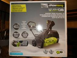 """GreenWorks 2601302 Pro 80V 20"""" Snow Thrower - no battery or"""