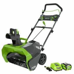 Greenworks 26272 40V G-MAX Cordless Lithium-Ion 20 in. Snow