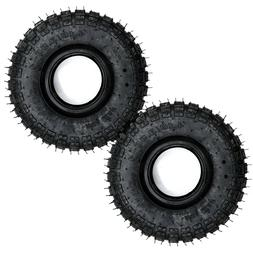 2PC NEW 4.10/3.50-4 TIRE 4.10 3.50 4 LAWN MOWER Go Kart Snow