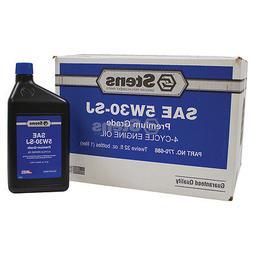 4-Cycle Engine Oil / 5W-30 SJ Wt, Twelve 32 oz. bottles