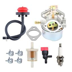 HIPA 640052 Carburetor + Primer Bulb Fuel Filter for Tecumse