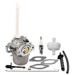 Hilom 796122 Carburetor with Fuel Filter Spark Plug for Brig