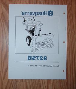 HUSQVARNA 927SB SNOW BLOWER OWNERS MANUAL WITH ILLUSTRATED P
