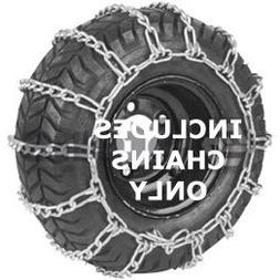 Husqvarna 954050203 Snow Thrower Tire Chains Pair, 20-Inch b