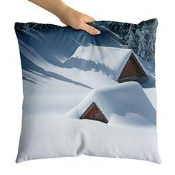Westlake Art - Snow Winter - Decorative Throw Pillow Cushion