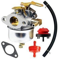 QAZAKY Adjustable Carburetor with Gasket Fuel Line for Tecum