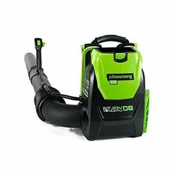 GreenWorks BPB80L00 80V 145MPH - 580CFM Cordless Backpack Bl
