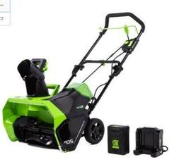 Brand New Greenworks 20-Inch 60-Volt Single-stage Cordless E