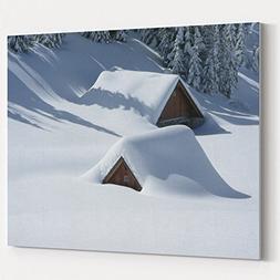 Westlake Art - Snow Winter - 16x20 Canvas Print Wall Art - C