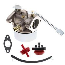 AUTOKAY New Carburetor Snow Blower Kit for Tecumseh 3HP 2 Cy