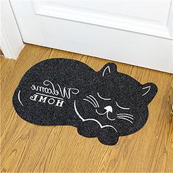 CarPet Cat Shape Floor Mat 4060Cm Anti-Slip Floor Kitchen To