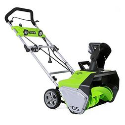 Greenworks 13-Amp 20-Inch Corded Snow Thrower With Dual LED