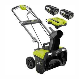 Ryobi Cordless Electric Snow Blower 20 in. 40-Volt Lithium-I