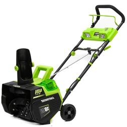 Earthwise Cordless Electric Snow Thrower 18 In. 40-Volt 4 Ah