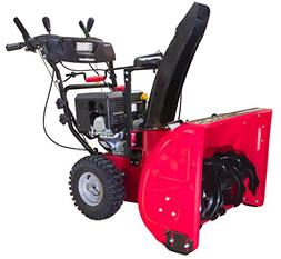 PowerSmart DB7128PA Two Stage Gas Snow Blower, red, Black