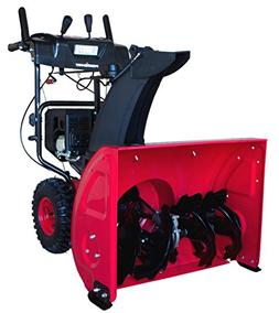 PowerSmart DB7127 Two Stage Gas Snow Blower, red, Black