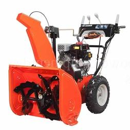 deluxe 24 254cc two stage snow blower