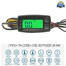 Engine Hour Meter Thermometer Meter Temperature Inductive Ta