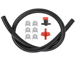 """1/4"""" Gas Fuel Line Hose & Filter & Fuel In-Line Shut-Off Val"""