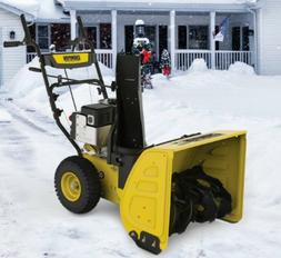 Gas Snow Blower with Electric Start 2 Stage 224cc Move 24 In