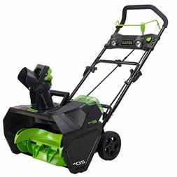 Greenworks Pro 80V 20-Inch Cordless Snow Thrower, Battery No