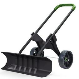 Heavy Duty 30 Inch Rolling Snow Removal Push Plow Shovel on