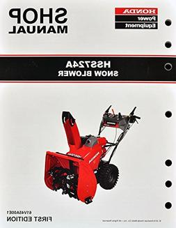 Honda HSS724 Snow Blow Throw Service Repair Shop Manual
