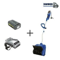 Hybrid Cordless and Electric 13 Cordless Snow Thrower