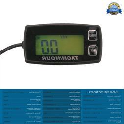 Inductive Tachometer Gauge Backlit Digital Resettable for 2/