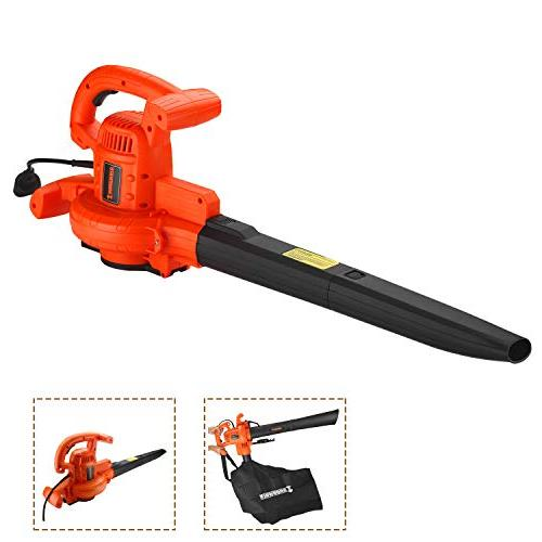 3-in-1 Corded Blower Mulcher and Vacuum 210 Variable Speed Control AMP Motor Sweeper Vac