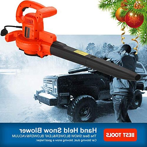 3-in-1 Electric Blower Mulcher and 210 Speed 12 Motor and Mulch Bag Sweeper Vac