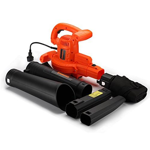 3-in-1 Electric Corded Blower 210 MPH,350CFM with Speed Motor and Mulch Sweeper Vac