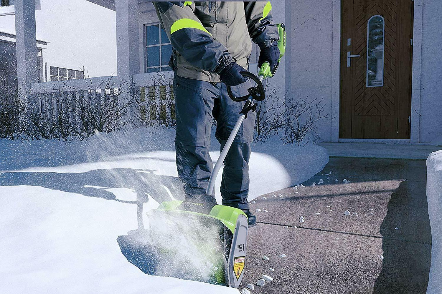 Greenworks Cordless Snow Shovel Included