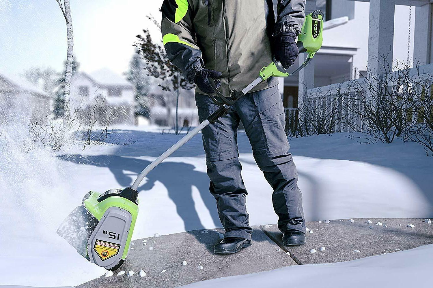 Greenworks 12-Inch 40V Cordless Snow Battery Included