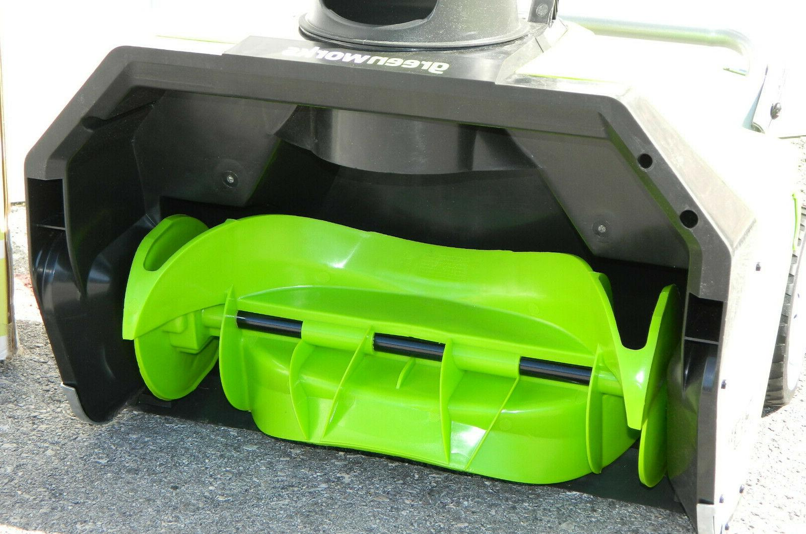 GreenWorks 13 Corded-Electric Thrower Remover Blower